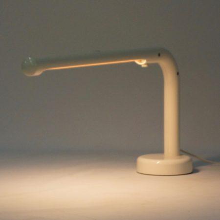White Tube Desk Lamp by Anders Pehrson for Atelje Lyktan, 1970s