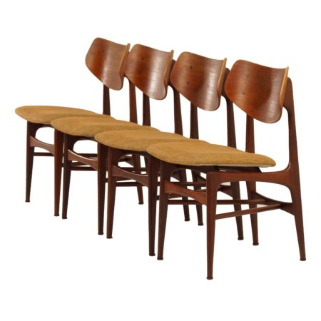 Teak Dining Chairs HAMAR by Louis van Teeffelen for Wébé, 1960s | Mid Century Design