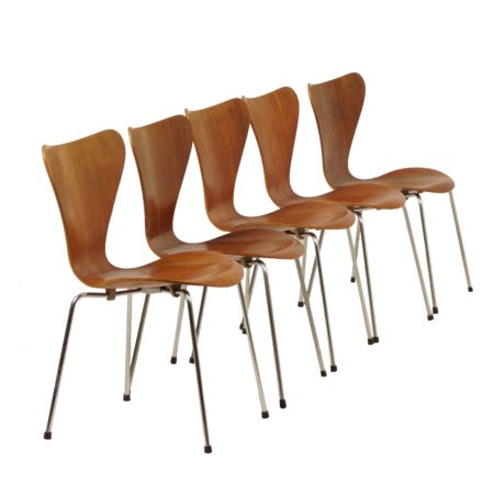 Teak Dining Chairs Butterfly by Arne Jacobsen for Fritz Hansen, 1950s | Mid Century Design