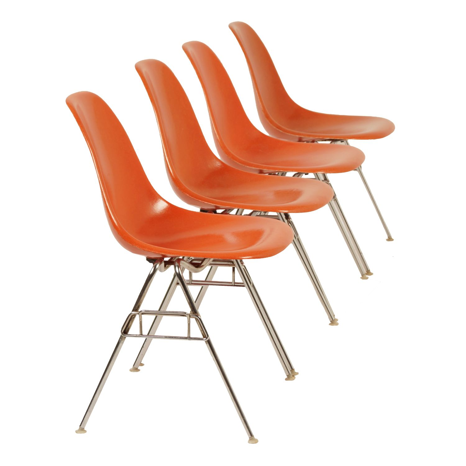 Original Eames DSS Chairs for Herman Miller, 1950s – Set of 4 | Mid Century Design