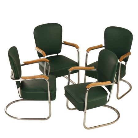 Fana Armchairs With Armrests, 1935 | Set of 4 | Mid Century Design