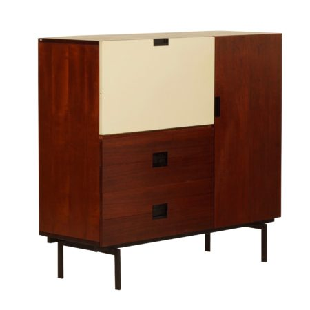 Dutch Sideboard in Teak with Brass Details, 1950s