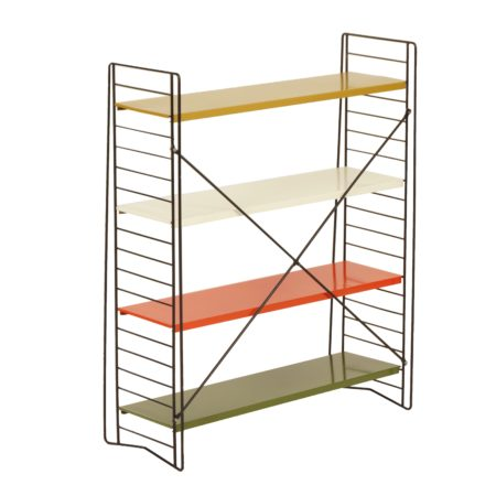 Multi-colored Bookcase by Adriaan Dekker for Tomado, 1958 | Mid Century Design