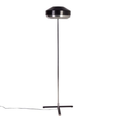 Black Chrome Floorlamp by Hagoort Lamps, 1960s | Mid Century Design