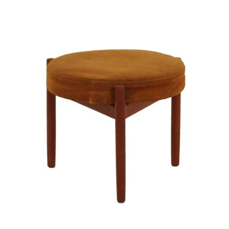 Teak Stool by Hugo Frandsen for Spottrup, Denmark 1960s