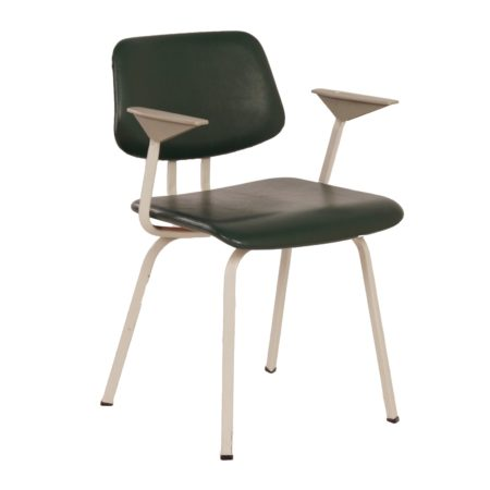 Green Industrial Chair with Armrest for Ahrend de Circel, 1960s