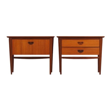 Louis van Teeffelen Nightstands in Teak by Wébé, 1960s | Mid Century Design