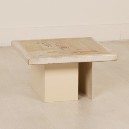 Small White Coffee Table by Paul Kingma, 1980s