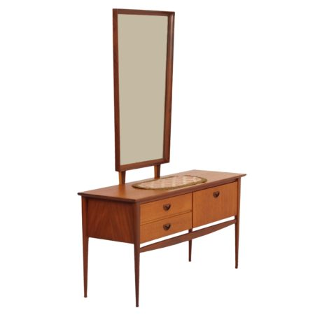 Teak Dressing Table by Louis van Teeffelen for Wébé, 1960s | Mid Century Design