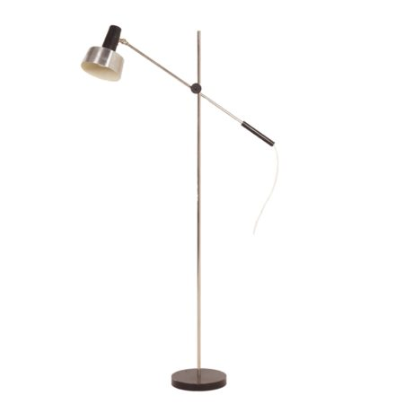Aluminum Floor Lamp by J. Hoogervorst for Anvia, 1960s | Mid Century Design