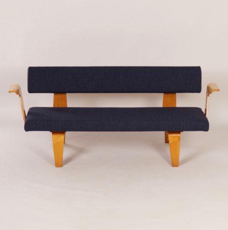 Blue Sofa by Cor ALONS for Den Boer Gouda, 1948 – New Upholstery