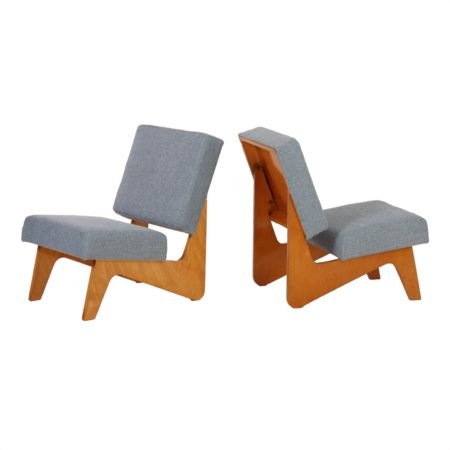 Set Combex FB03 Easy Chairs by Cees Braakman for Pastoe in 1952. | Mid Century Design
