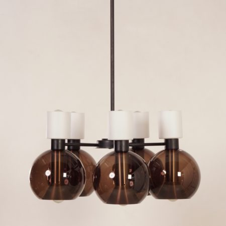 Glass Chandelier with Five Globes by RAAK, 1960s