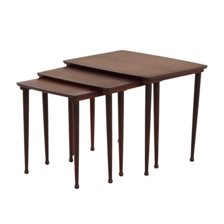 Danish Side Tables by Møbelintarsia, 1950s – set of 3 in Rosewood