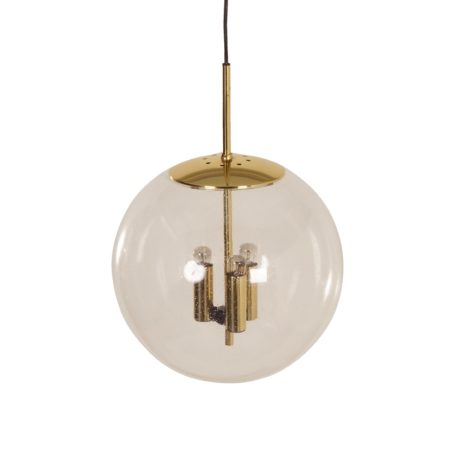 Glass Ball Pendant for Glashütte Limburg, 1970s | Mid Century Design