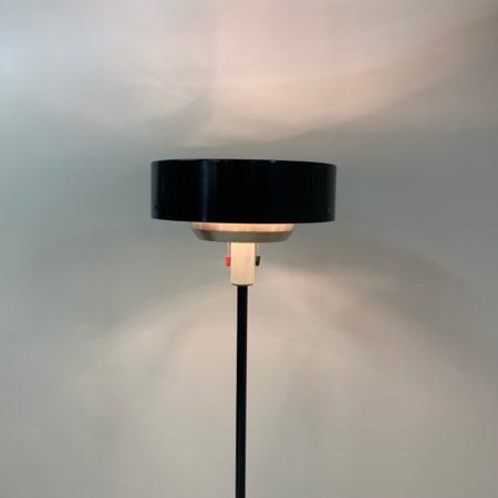 Black ST 8619 Floor Lamp by N.J. Hiemstra for Hiemstra Evolux, 1960s