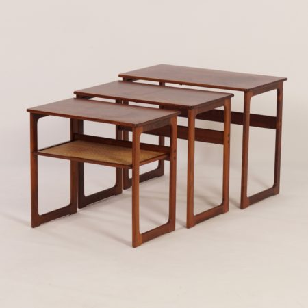 Danish Nesting Tables by Johannes Andersen & Illum Wikkelso for CFC Silkeborg, 1950s.