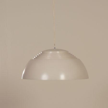 Grey white AJ Pendant by Arne Jacobsen for Louis Poulsen, 1950s