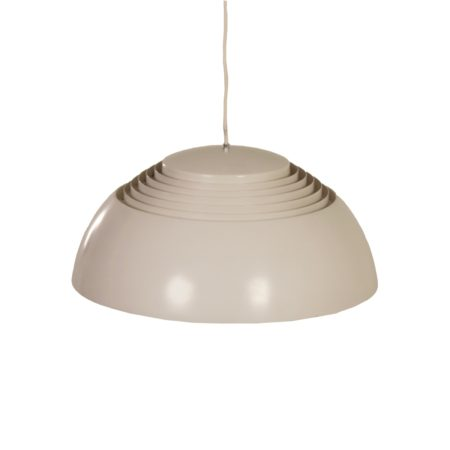 Grey white AJ Pendant by Arne Jacobsen for Louis Poulsen, 1950s | Mid Century Design