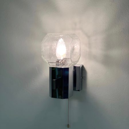 Glass Wall Lamp by Cosack Leuchten, 1960s