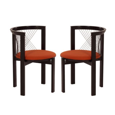 String Chair by Niels J. Haugesen for Tranekaer, 1980s – Set of 2 | Mid Century Design