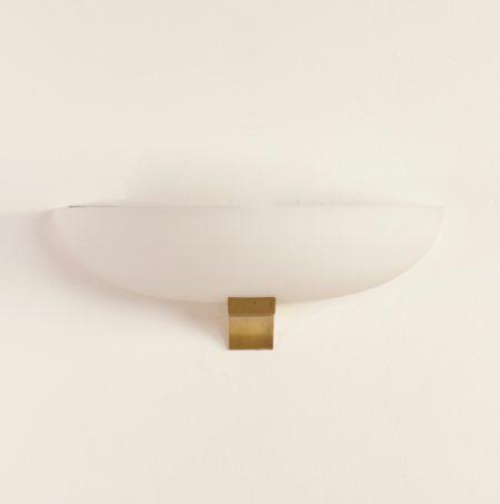 Art Deco Wall Lamp by Jean Perzel, 1930s | White Glas