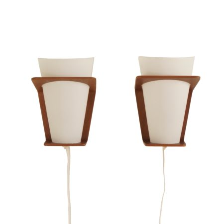 Pair Wall Lamps (model NX 41) by Louis Kalff for Philips, 1960s | Mid Century Design