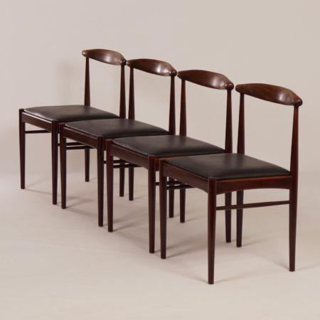 Teak Dining Chairs, 1960s | Set of 4