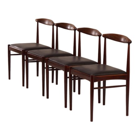 Teak Dining Chairs, 1960s | Set of 4 | Mid Century Design