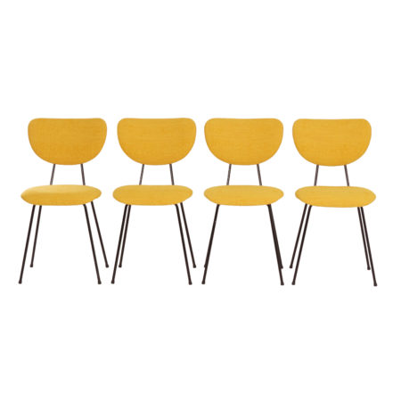 4 Yellow Dining Chairs model 101 by Gispen for Kembo, 1950s | Mid Century Design
