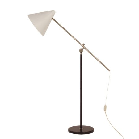 White Floor lamp by Floris Fiedeldij for Artimeta, 1950s | Mid Century Design