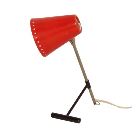 Red Bambi Table Lamp by Floris Fiedeldij for Artimeta, 1950s. | Mid Century Design