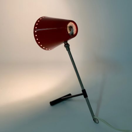 Red Bambi Table Lamp by Floris Fiedeldij for Artimeta, 1950s.