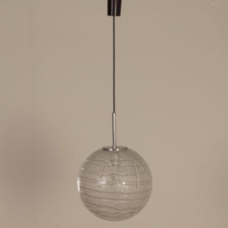 Glass Globe Pendant by Doria Leuchten, 1970s