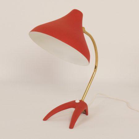 Red Desk Lamp by Ewa Värnamo Zweden, 1950s