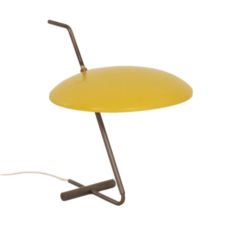 Rare Yellow Desk Lamp by Hoogervorst for Anvia, 1950s | Mid Century Design