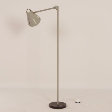 Grey Sun Series Floor Lamp Model 15  by H. Busquet for Hala, 1950s