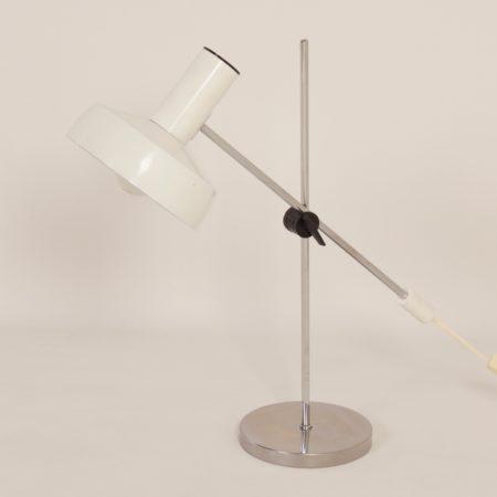 White Desk Lamp by J. Hoogervorst for Anvia, 1960s