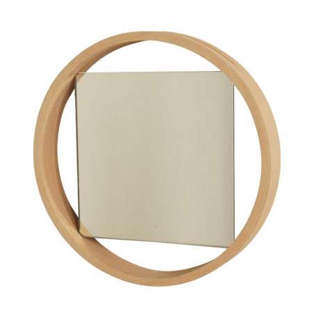 Birch Wall Mirror DZ84 by Benno Premsela for 't Spectrum, 1950s | Mid Century Design