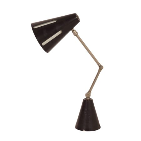 "Black ""Sun Series"" Piano light ""Model 7"" by H. Busquet for Hala, 1950s 
