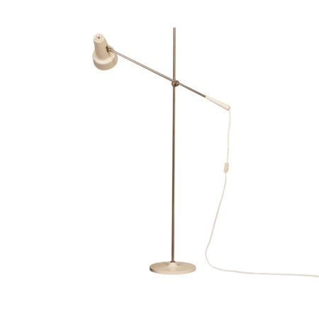 White Floor Lamp Model 329 by Willem Hagoort for Hagoort, 1960s | Mid Century Design