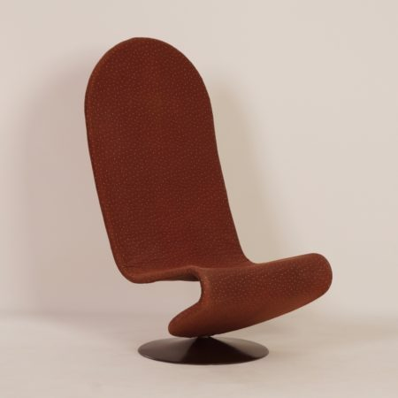 Yellow 123 Chair by Verner Panton for Fritz Hansen, 1970s