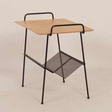 TM Side Table with Magazine Holder by Cees Braakman for Pastoe, 1950s