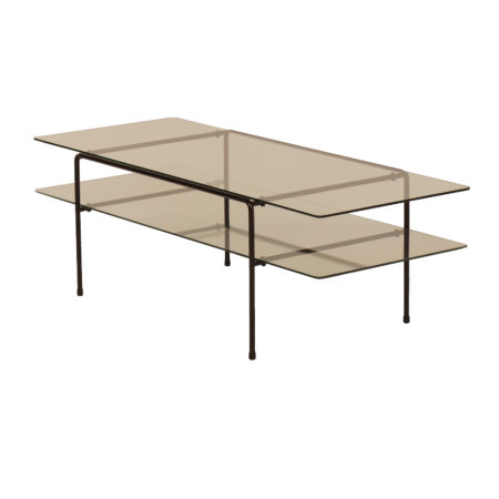 Glass Rectangular Coffee Table 3637 by Cordemeyer for Gispen, 1950s | Mid Century Design