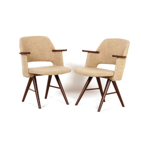Pair of FT30 Dining Arm Chairs by Cees Braakman for Pastoe, 1950s | Mid Century Design