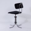 Desk Chair 132 in New Black Manchester Rib by Fana Metaal, 1950s