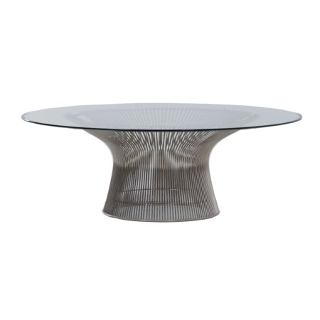 Glass Coffee Table by Warren Platner for Knoll, 2000s | Mid Century Design