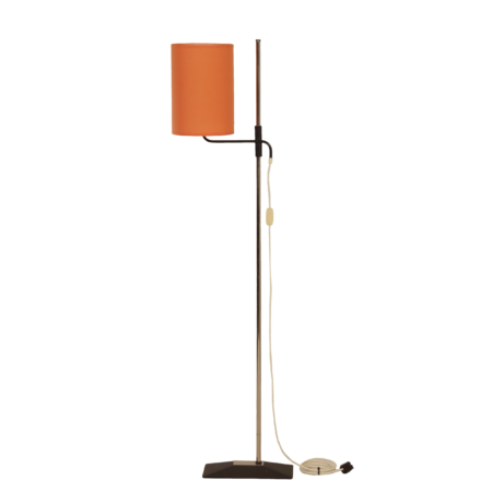 Orange Vintage Floor Lamp with Adjustable Orange Shade, 1970s | Mid Century Design