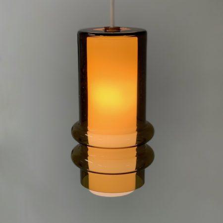 Glass Circle Pendant by Jo Hammerborg for Fog & Mørup, 1960s