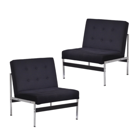 Pair of 020 Easy Chairs by Kho Liang for by Artifort | Mid Century Design